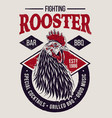 fighting rooster design vector image