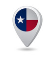 flag state texas usa on marker map vector image vector image