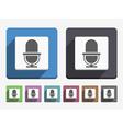 Flat Microphone Icon vector image vector image