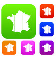 france set collection vector image vector image