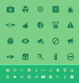 General healthcare color icons on green background vector image vector image