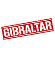 gibraltar red square stamp vector image vector image