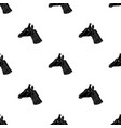 giraffe icon in black style isolated on white vector image