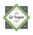 go vegan vintage icon vector image