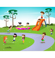 happy cartoon kids vector image vector image