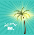 happy summer background with palm tree vector image vector image