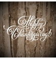Happy Thanksgiving handwritten lettering vector image vector image