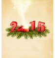 Holiday background with a present and 2015 vector image vector image