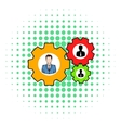 Human resources icon comics style vector image