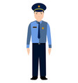 isolated police avatar vector image