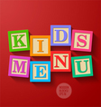 Kids Menu cover vector image vector image