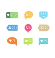 Like and information button icon with counter vector image