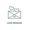 love message line icon linear concept vector image vector image