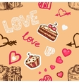 love pattern vector image