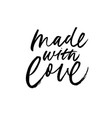 made with love lettering for handcrafted goods vector image vector image