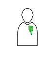 man with eco tree vector image vector image