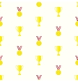 Medal cup seamless pattern vector image vector image