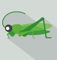Modern Flat Design Grasshopper Icon vector image