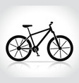 mountain bike icon vector image vector image