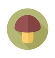 Mushroom flat icon with long shadow vector image vector image