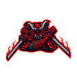 ninja samurai logo design vector image