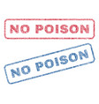 no poison textile stamps vector image vector image