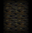 old dark brick wall texture background vector image