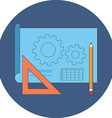 Prototyping concept Flat design Icon in blue vector image