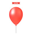 red air balloon realistic 3d vector image vector image