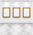 Room with three frames vector image vector image