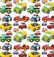 seamless different kind transportations vector image