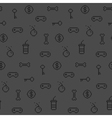Seamless oldschool gaming inspired pattern vector image