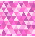 Seamless retro pattern of geometric shapes Pink vector image