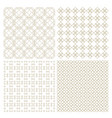 set of four delicate seamless patterns in vector image vector image