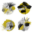 set tropical labels in circles for textiles and vector image vector image