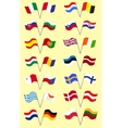 Set with European Flags vector image