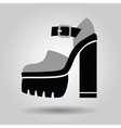 Single women platform high heel shoe icon vector image