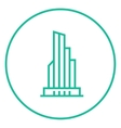 Skyscraper office building line icon vector image vector image