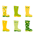 Spring wellington rain boots vector image vector image