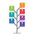 vertical timeline infographics tree vector image vector image