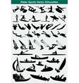 Water sports silhouettes