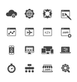 Website Development Icons vector image vector image