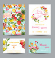 wedding cards in floral background vector image vector image