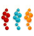 Set of color Merry Christmas baubles vector image