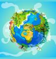 cartoon earth planet light concept vector image
