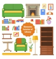 Elements of the interior library or cabinet vector image
