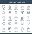 25 bear icons vector image vector image