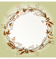 autumn greeting card with place for text vector image vector image