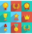 Award icons set colored vector image