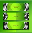 banner green background design vector image